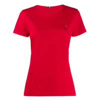 Tommy Hilfiger Camiseta Com Logo Bordado - Vermelho