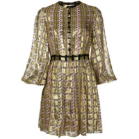 Temperley London Vestido 'letter' - Dourado