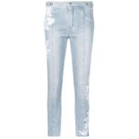 Ermanno Scervino Calça Jeans Com Bordado - Azul