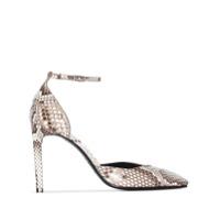 Givenchy Sapato Com Salto 100Mm E Efeito Pele De Cobra - Cinza