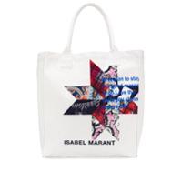 Isabel Marant Étoile Bolsa Tote Com Logo - Neutro