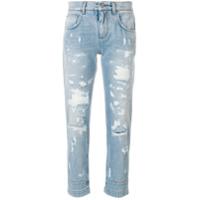 Dolce & Gabbana Calça Jeans Destroyed - Azul