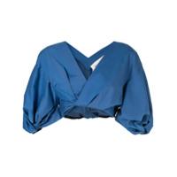 Portspure Blusa Cropped Transpassada - Azul