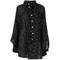 Vivienne Westwood Anglomania Chaos Asymmetric Shirt - Preto