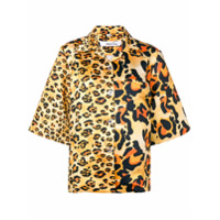 Richard Quinn Camisa Animal Print - Amarelo
