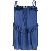 Maggie Marilyn Blusa 'heart Of Gold' De Seda - Azul