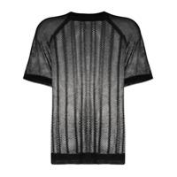 Filippa K Soft Sport Camiseta De Tricô Com Mesh - Preto