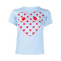 Comme Des Garçons Play Camiseta Com Estampa De Logo - Azul