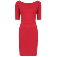 Armani Exchange Vestido Mangas Curtas - Vermelho