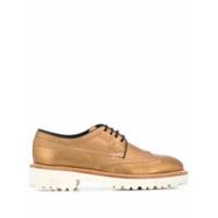 Paul Smith Sapato Oxford Metálico - Dourado