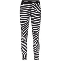 Vetements Legging Com Logo E Estampa De Zebra - Preto