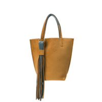 Alila Two-Tone Tote Bag - Marrom