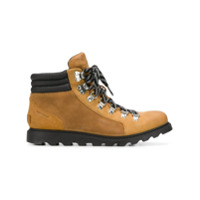 Sorel Ankle Boot Com Cadarço - Marrom