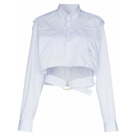 Situationist Cropped Belted Shirt - Azul