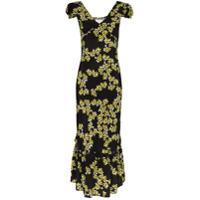 Rentrayage Vestido Midi Com Estampa Floral - Preto
