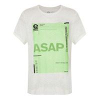 Osklen T-Shirt Asap Estampada - Branco