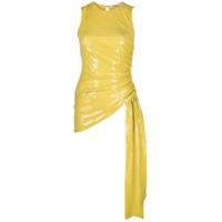 Amen Blusa Com Franzido E Paetês - Amarelo