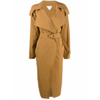 Bottega Veneta Trench coat com fivela triangular - Marrom