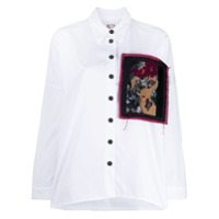 Antonio Marras Camisa Ampla Com Patch - Branco