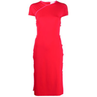 Marcia Vestido Midi Com Abertura Lateral - Vermelho
