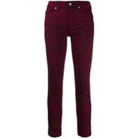 Liu Jo Calça Jeans Skinny Animal Print - Vermelho