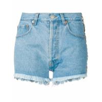 Forte Dei Marmi Couture Short Jeans Com Aplicação - Azul