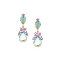 Bounkit Jewelry Par De Brincos De Quartzo - Azul