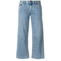 Simon Miller Calça Jeans Pantalona Cropped - Azul
