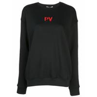 Priscavera Suéter Com Logo Bordado - Preto