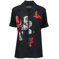 Neil Barrett Camisa Com Estampa Floral - Preto