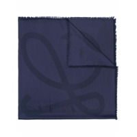 Loewe Cachecol Com Franjas - Azul