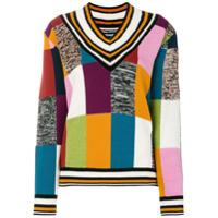 House Of Holland Suéter Color Block Xadrez - Estampado