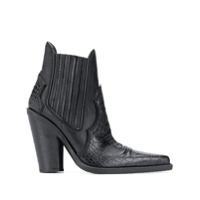 Dsquared2 Ankle Boot Com Efeito De Pele De Crocodilo - Preto