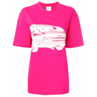 Calvin Klein Jeans Est. 1978 Camiseta Oversized Com Estampa De Carro - Rosa