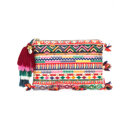 Imagem de Figue Bolsa clutch estampada com tassel - Estampado