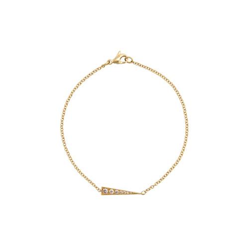 Imagem de Daou Pulseira Spark de ouro 18kt com diamante - Dourado