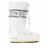 Moon Boot Logo Drawstring Boots - Branco