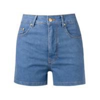 Amapô Short Jeans Cintura Alta - Azul