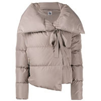 Bacon Oversized Collar Down Jacket - Cinza