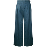 Holland & Holland Calça Pantalona - Azul