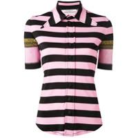 Givenchy Camisa Listrada - Rosa