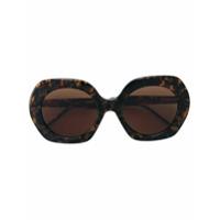Thom Browne Eyewear Óculos De Sol Redondo - Marrom