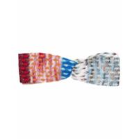 Missoni Mare Headband De Tricô E Crochê - Azul