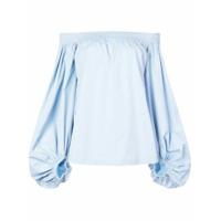 Derek Lam Blusa Ombro A Ombro Com Mangas Bufantes - Azul