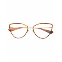 Christian Roth Armação De Óculos Gatinho - Marrom