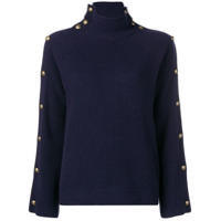 Ralph Lauren Collection Suéter Com Gola Alta De Cashmere - Azul