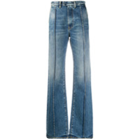 Ports 1961 Calça Jeans Pantalona Birkin Cintura Alta - Azul