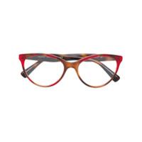 Valentino Eyewear Armação De Óculos Gatinho - Vermelho