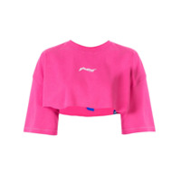 Ader Error Cropped Fit T-Shirt - Rosa