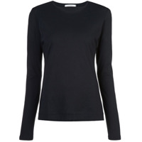 Adam Lippes Round Neck Long-Sleeved Top - Preto